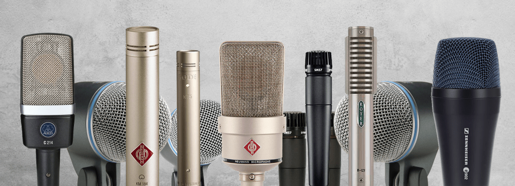 Pro-quality recording starts with the right microphone