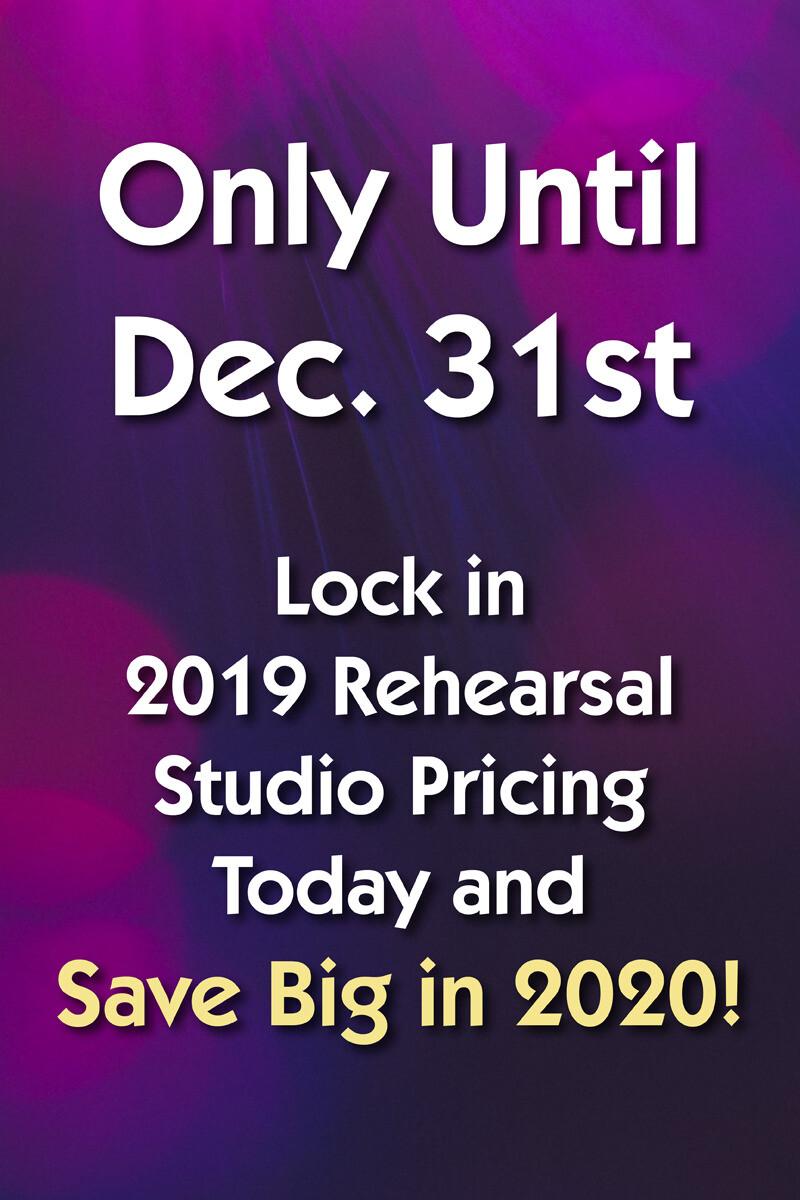 lock in 2019 rehearsal studio pricing