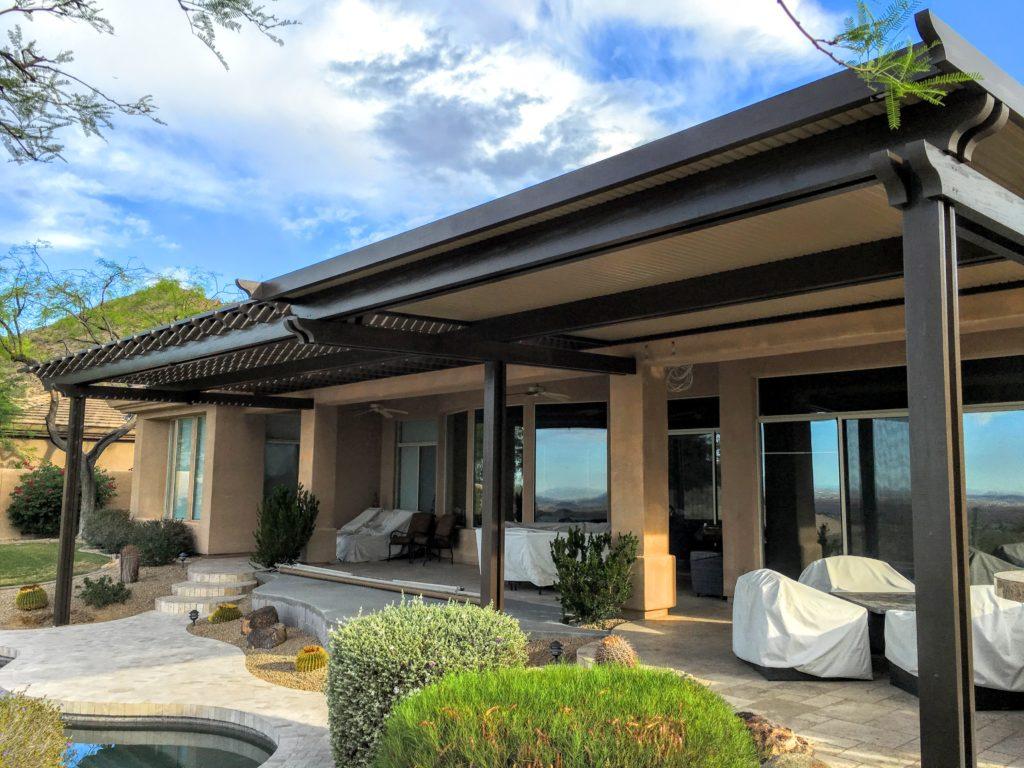 16 x 55 alumawood patio cover in