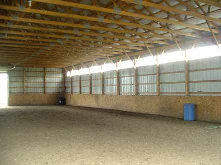 Inside the 100' x 60' indoor arena