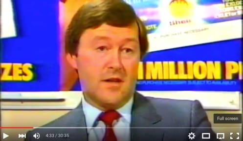 Ken Danson, Shell Sales Development Manager, 1984