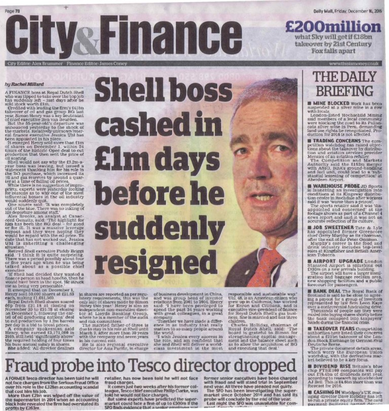royal dutch shell reserves scandal 2004 Royal dutch shell plc said it depleted its oil and gas reserves much faster than it replenished them with new resources in 2015, its worst performance since an accounting scandal that engulfed the company 12 years ago.