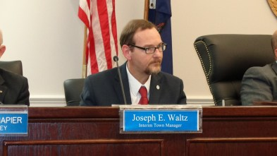 Interim Town Manager Joe Waltz is in …