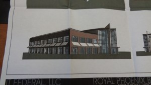 An alternate ITFederal building design under consideration for the Royal Phoenix site.
