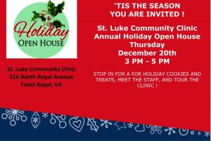 St. Luke Community Clinic Annual Holiday Open House @ St. Luke Community Clinic