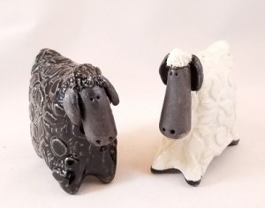 Create Clay Sheep Salt and Pepper Shakers @ Explore Art & Clay