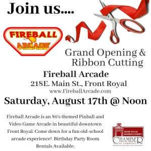 Fireball Arcade Grand Opening @ Fireball Arcade