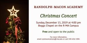 R-MA Hosts Community Christmas Concert @ Randolph-Macon Academy | Boggs Chapel
