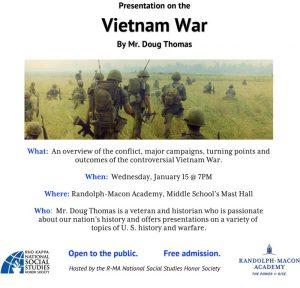 Vietnam War Presentation @ Randolph-Macon Academy