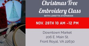 Christmas Tree Embroidery Class @ Downtown Market