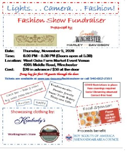Fashion Show Fundraiser benefitting Boy Scouts @ West Oaks Farm Market Event Venue