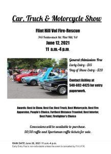 Car, Truck & Motorcycle Show @ Flint Hill Volunteer Fire & Rescue