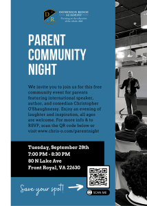 Community Parent Night @ Dominion Ridge Academy