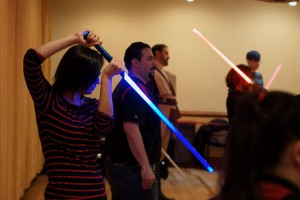 Jedi light saber training