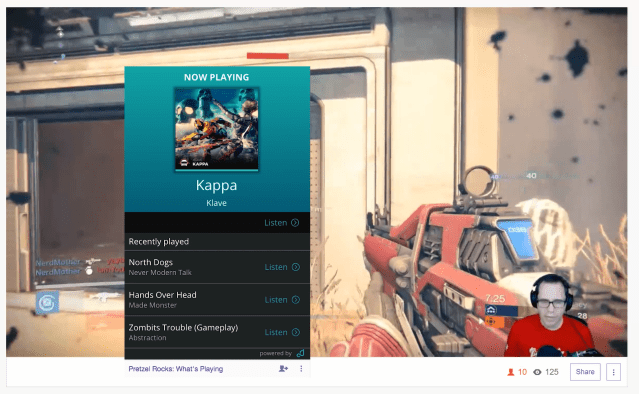 Twitch Extensions: What's Playing