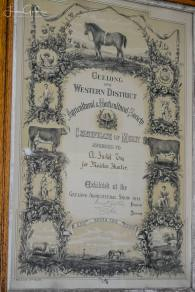Certificate from 1892