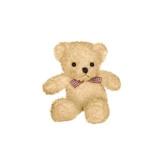 brown teddy bear with bow plush stuffed animal 10in