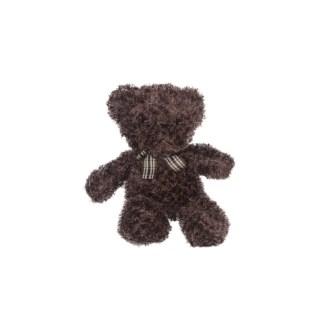 dark brown teddy bear with bow plush stuffed animal 10in