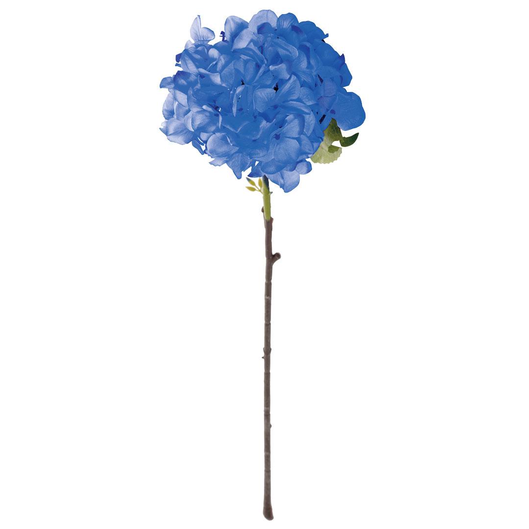 Blue Single Stem Hydrangea Silk Flower 28 Royal Imports
