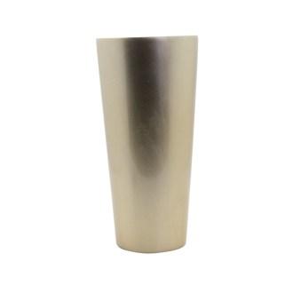 ceramic gold beaker flower vase
