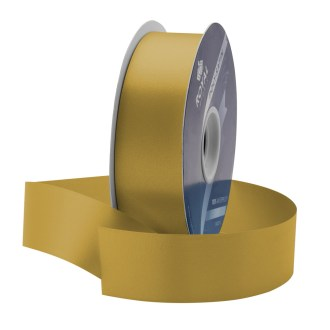 gold waterproof poly-satin ribbon 1.375in