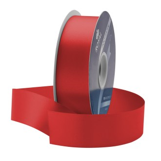 red waterproof poly-satin ribbon 1.375in