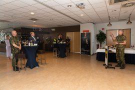Oirschot, 10 juni 2021 Bezoek van Zijner Majesteit de koning Willem-Alexander waarbij hij uitleg krijgt over de bezigheden van 13 lichte brigade en de nieuwe ontwikkelingen Foto: Bezoek koning
