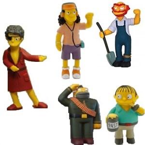 5 Figurines Simpson
