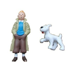 2 fig Tintin + Milou Hergé ML