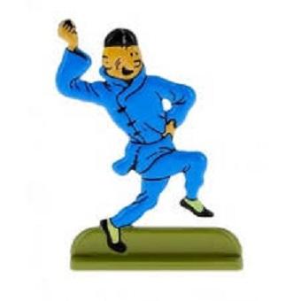 Tintin en métal le lotus bleu édition Hergé ML 2010