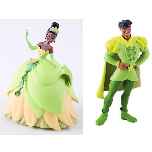 Princesse Tiana et Prince Naveen figurine la princesse et la grenouille Prince et Princesse Disney.