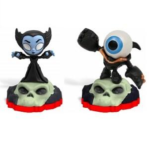 2 mini figurines Skylanders Trap Team HIJINX + EYE SMALL
