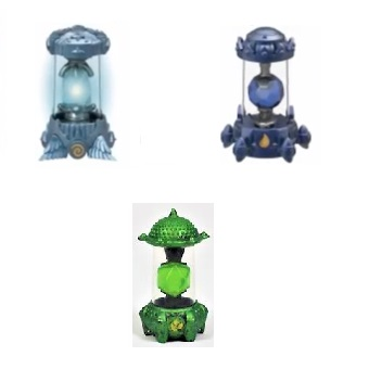 3 Cristaux Skylanders Imaginators Eau+Air+Vie.