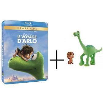 Le voyage d'Arlo en Blu-ray + 2 figurines Disney.