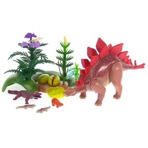 Playmobil 5232 - Stégosaure Et Ses Bébés Avec Foret complet