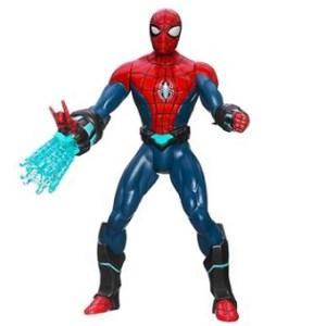 Spiderman SONORE ET LUMINEUX avec toile tournante.