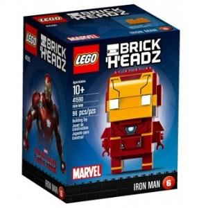 Iron Man 41590 Brick H'EADZ Lego Marvel avec boite et notice