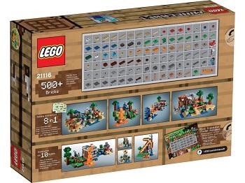 LEGO MINECRAFT 21116 avec boite notice et poster