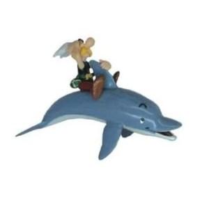 Astérix sur Dauphin figurine Astérix et Obélix PLASTOY 2003