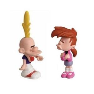 Titeuf et Nadia 2 figurines occasion Plastoy