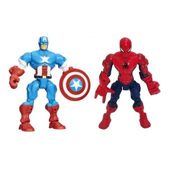 Spiderman et Captain América 2 Figurines Marvel Hasbro 2013