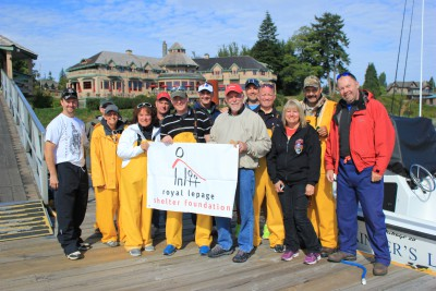 Fishing in support of the Royal LePage Shelter Foundation are from left to right: Steve Grant, Gregg Hart, Paola Stewart, Debbie Morris, Gary Gray, John Byers, Mike Duggleby, Rick Siweck, Alan Stewart, Jim Morris, Claudette and Tom Edenoste and Randy Ryalls. Missing from photo are: Michael Trites, Gerry Storoschuk, Dale Panteluk, Bryan Watkins and Ron Pheifer.