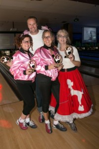 Posing with their championship trophies are L to R: Kelley McIntyre, Adam Miller, Diana Taylor and Lorie Johnson, all with Royal LePage Triland Realty