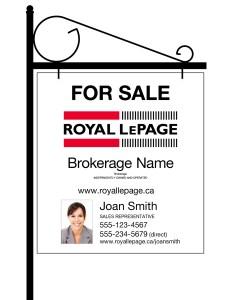 Royal LePage lawn sign_en
