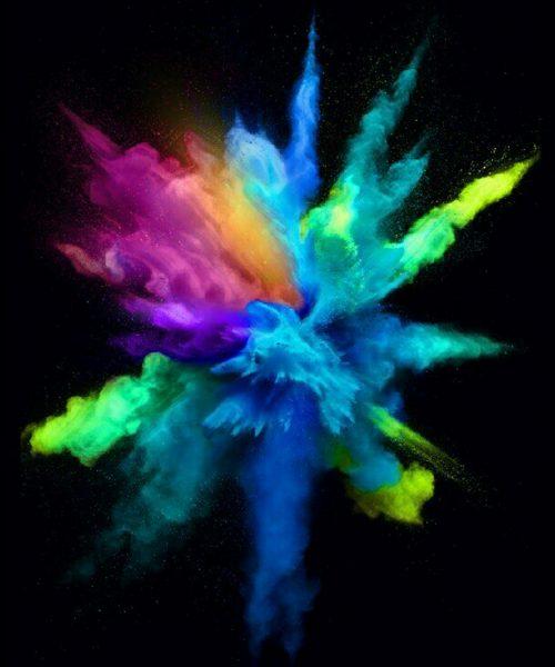 multi colour explosion