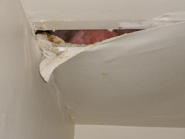 Upstairs Shower Leaking Ceiling Below