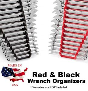 JSP Manufacturing Red and Black Wrench Organizer (2 Pack)