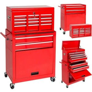 Best Choice Products Portable Top Chest Rolling Tool Storage Box