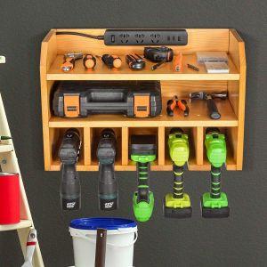 Sunix Power Tool Charging Station Drill Wall Holder Wall Mount Tools Garage Storage