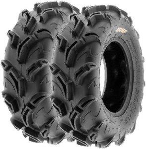 SunF Warrior Mud & Trail 25x8-12 Front & 25x10-12 Rear ATV UTV Off-Road Tubeless Tires